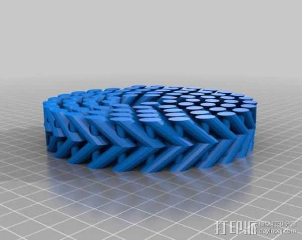 参数型螺旋块 3D打印模型渲染图