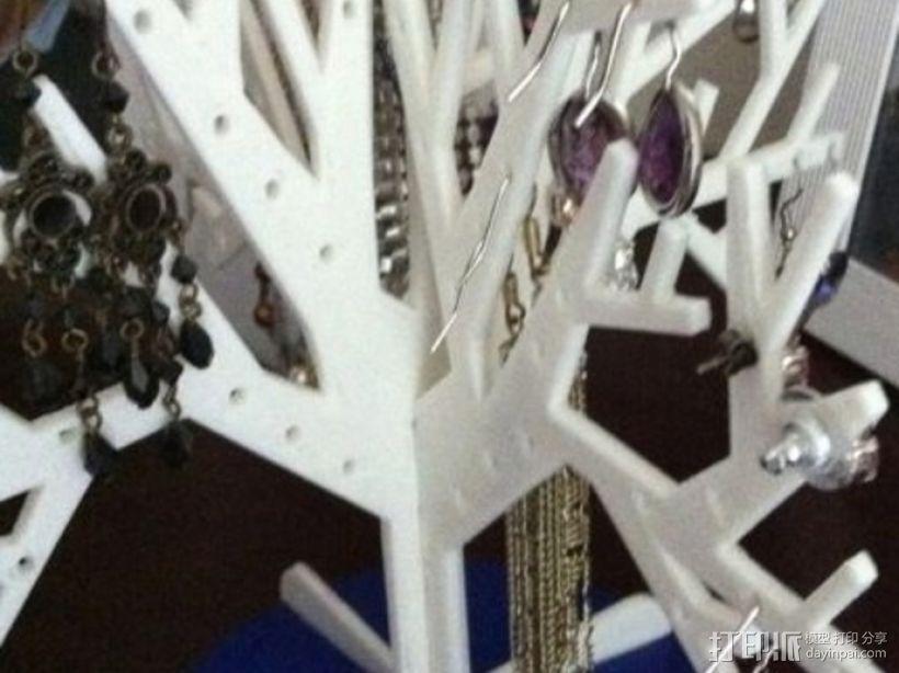 首饰树 首饰架 3D打印模型渲染图