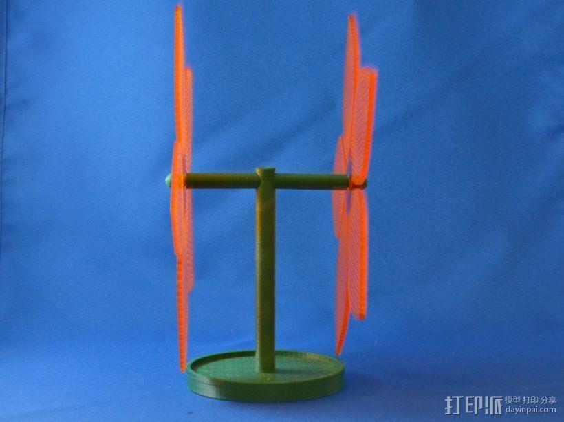 花形耳坠架 3D打印模型渲染图