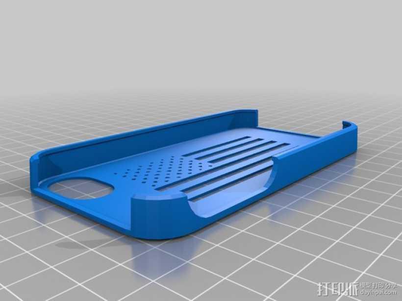 美国国旗苹果外壳 3D打印模型渲染图