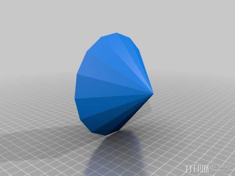 钻石 3D打印模型渲染图