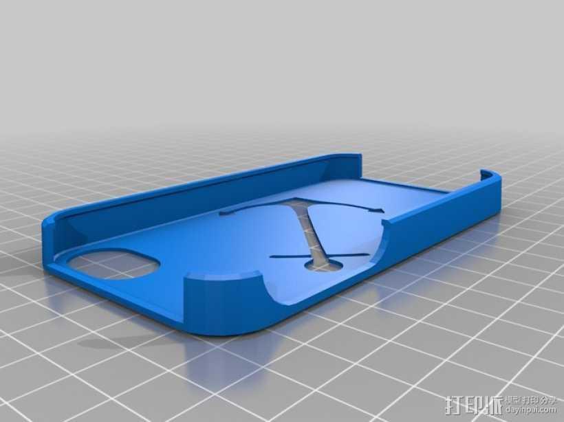 我的定制苹果外壳 3D打印模型渲染图