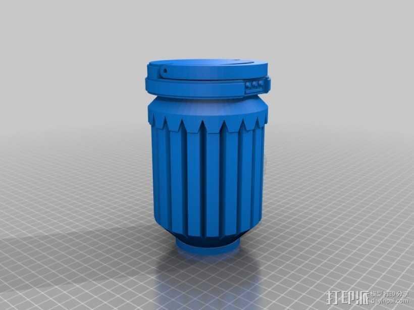 星球大战手榴弹 3D打印模型渲染图