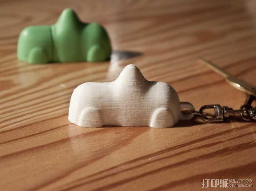 瑞典的糖果车钥匙链 3D打印模型渲染图