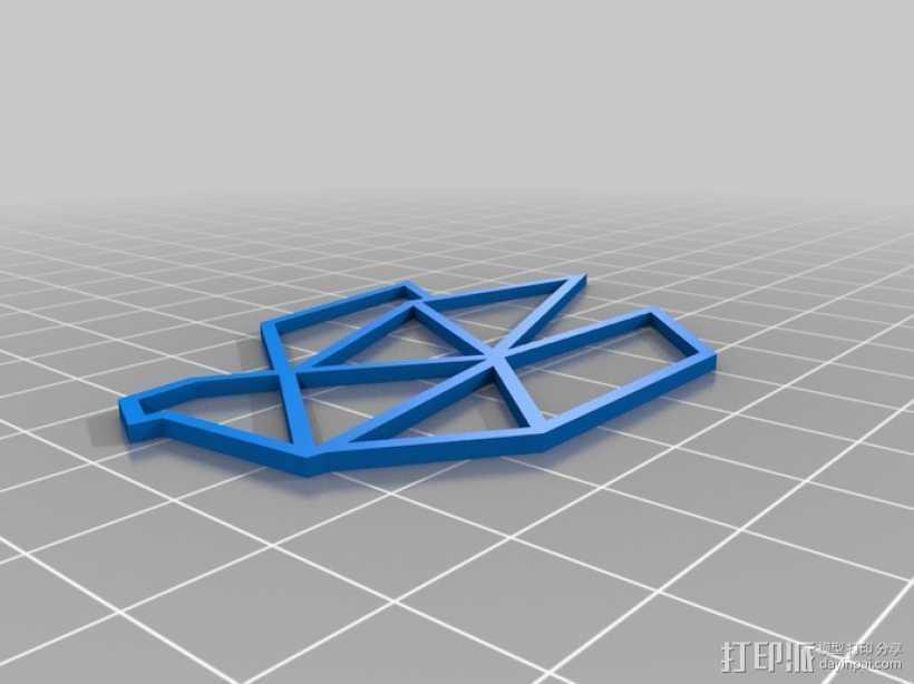 折纸鸟 3D打印模型渲染图