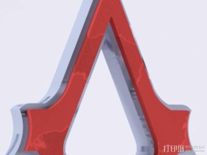 刺客信条3钥匙链 3D打印模型渲染图