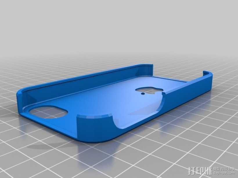 iPhone 4手机壳 3D打印模型渲染图