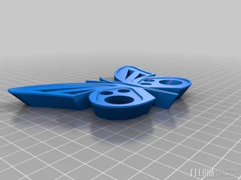 蝴蝶模型 3D打印模型渲染图