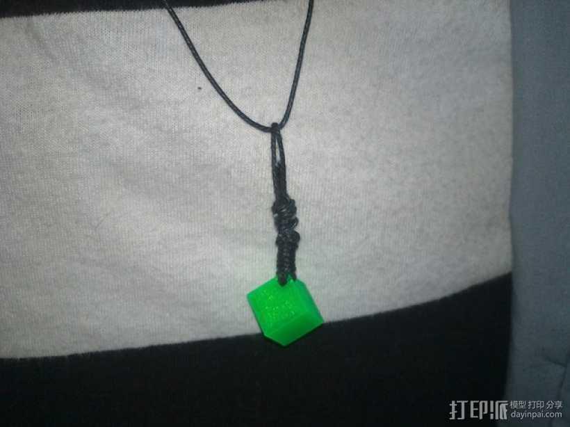 立方体坠饰 3D打印模型渲染图