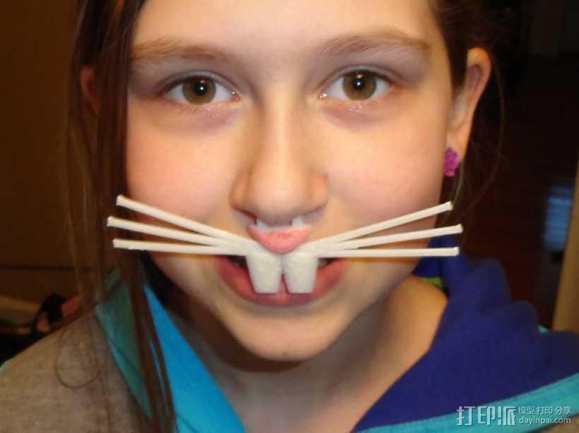 兔鼻子 3D打印模型渲染图