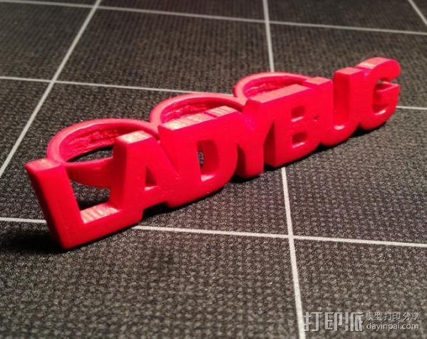 Ladybug-3头指戒 3D打印模型渲染图