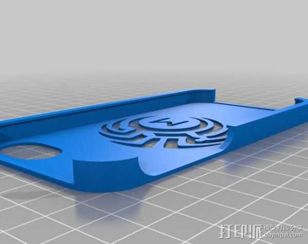 M 号部落的iPhone 5 外壳 3D打印模型渲染图