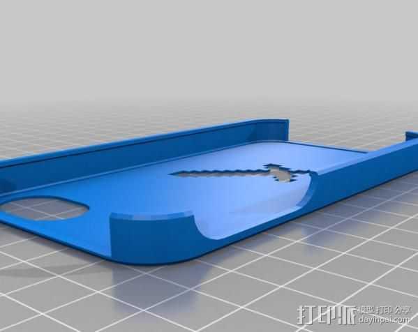 我的世界 iPhone4手机套 3D打印模型渲染图