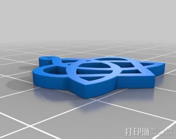 凯尔特之心 3D打印模型渲染图