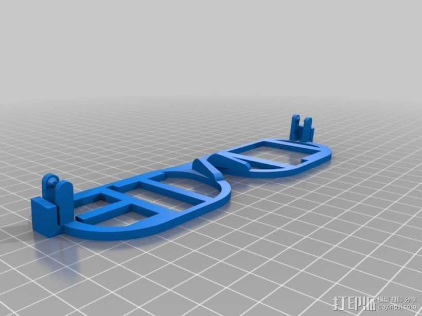 iLITE字母眼镜 3D打印模型渲染图