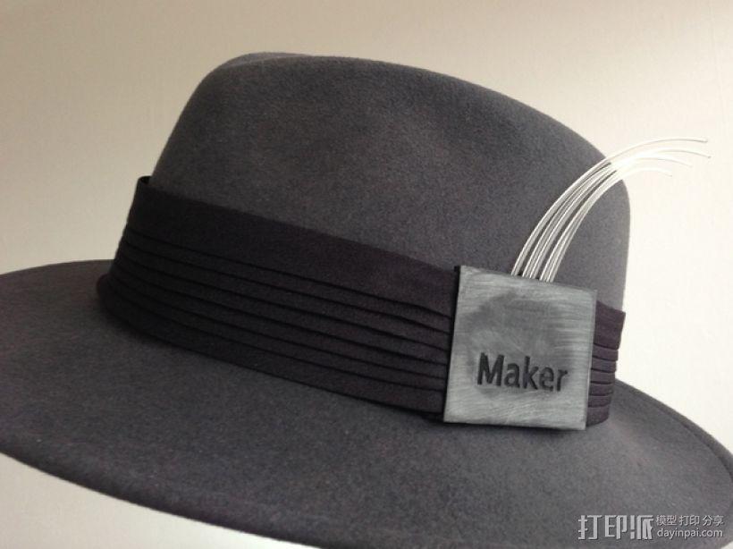 可定制帽带夹 3D打印模型渲染图