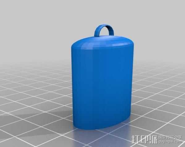 Lighter Leash打火机套挂件 3D打印模型渲染图