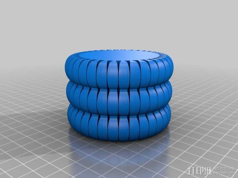 劳拉的手环 3D打印模型渲染图