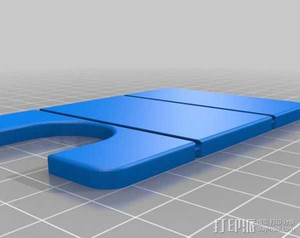 极简主义钱包 3D打印模型渲染图