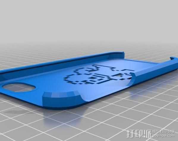 iPhone 5/5s洛克人外壳 3D打印模型渲染图