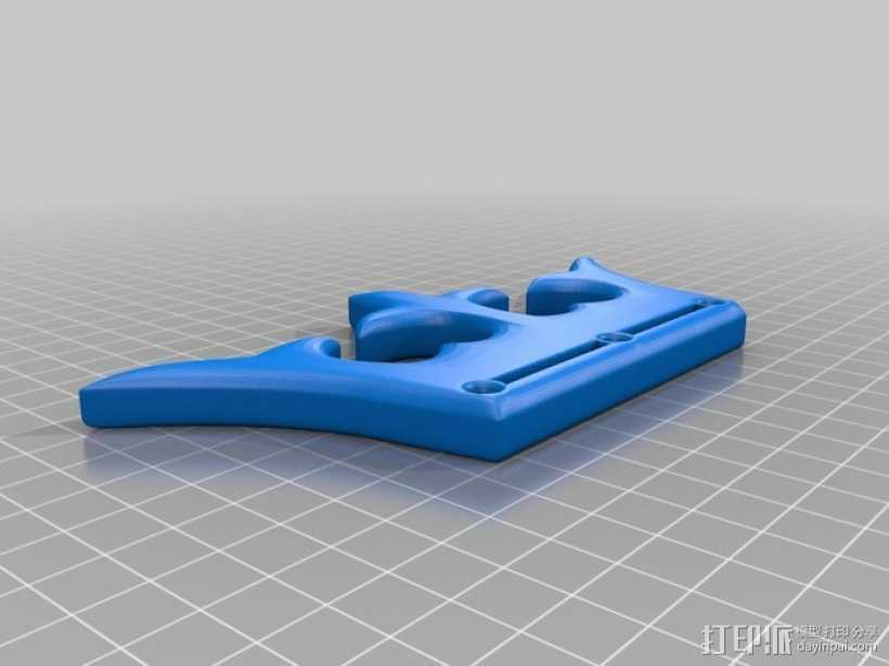 击倒王钥匙扣 3D打印模型渲染图