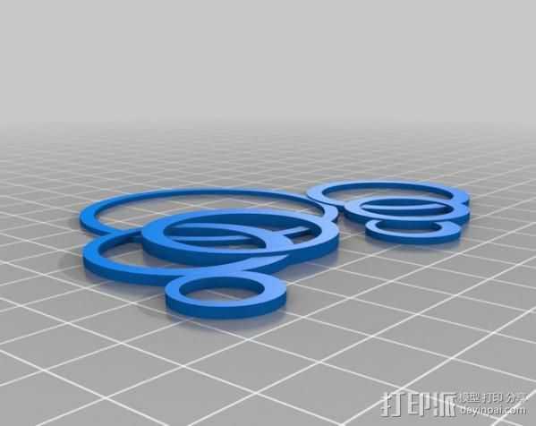 我的定制环状项链 3D打印模型渲染图
