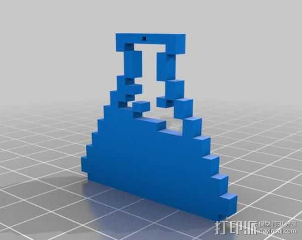 像素图形挂件 3D打印模型渲染图