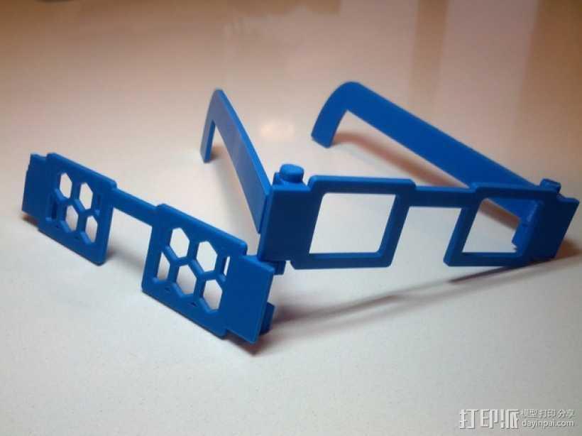 可定制眼镜 3D打印模型渲染图