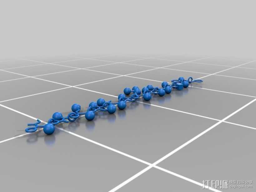 蛋白质分子项链 3D打印模型渲染图