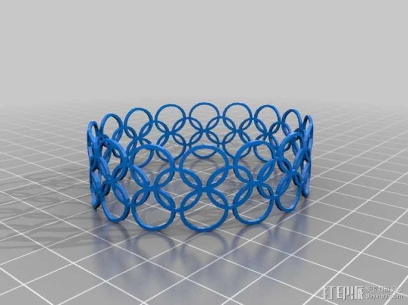 定制特色手环 3D打印模型渲染图