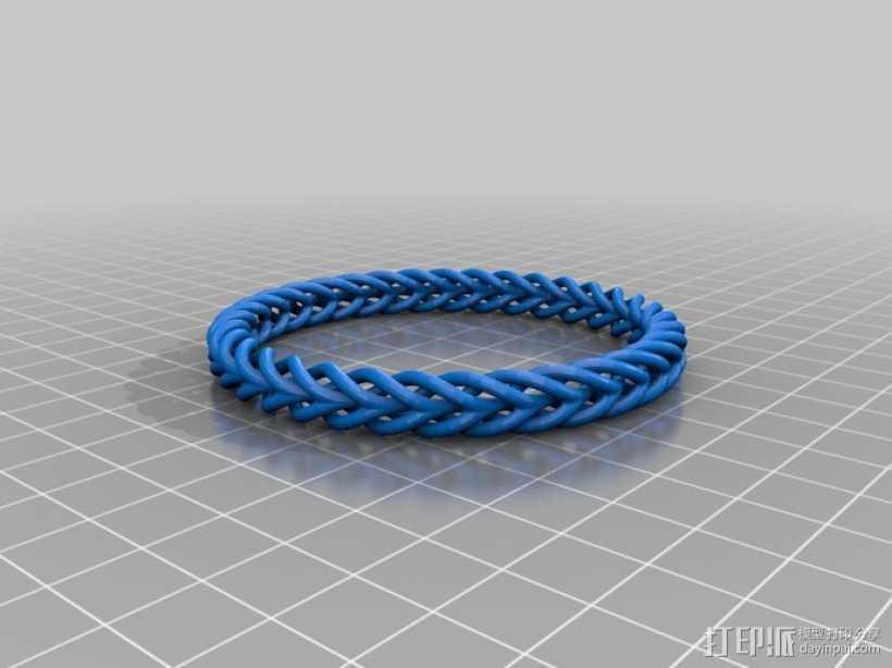 编织结构环 3D打印模型渲染图