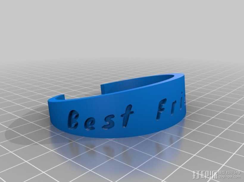 可定制手环 3D打印模型渲染图