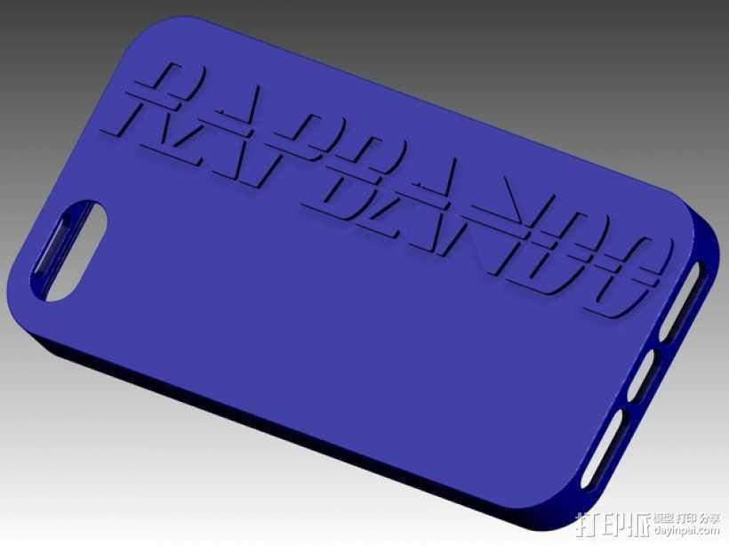 Iphone 5 外壳 3D打印模型渲染图