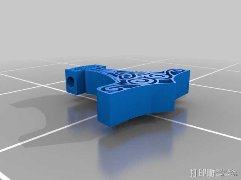 雷神之锤 项链 3D打印模型渲染图