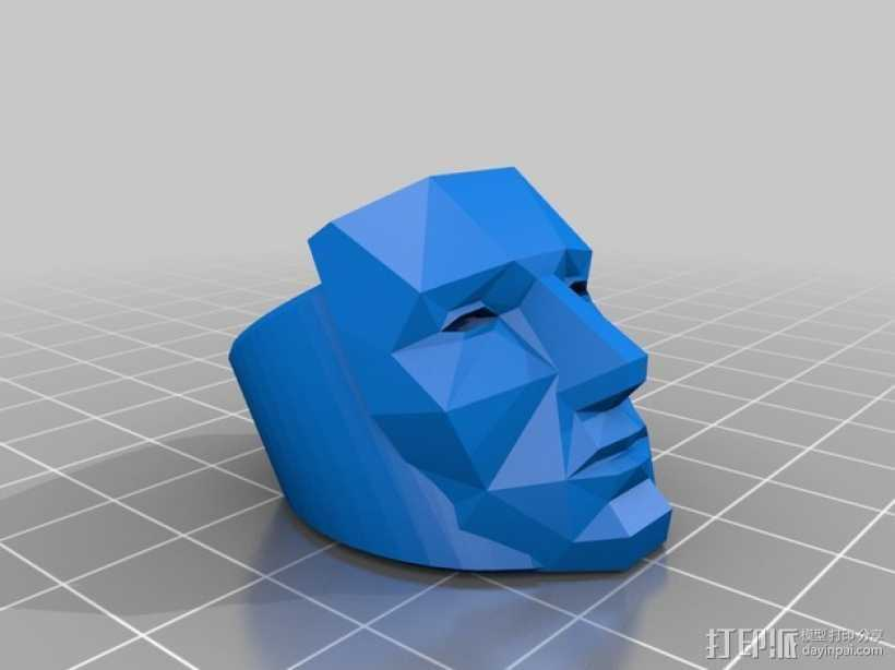 人脸戒指 3D打印模型渲染图