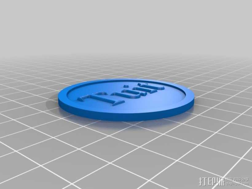 圆形Tuit 3D打印模型渲染图