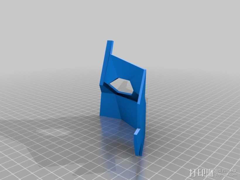 可打印低聚面具 3D打印模型渲染图