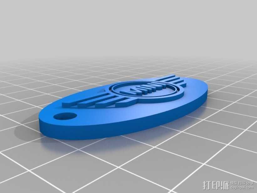 可定制钥匙环 3D打印模型渲染图