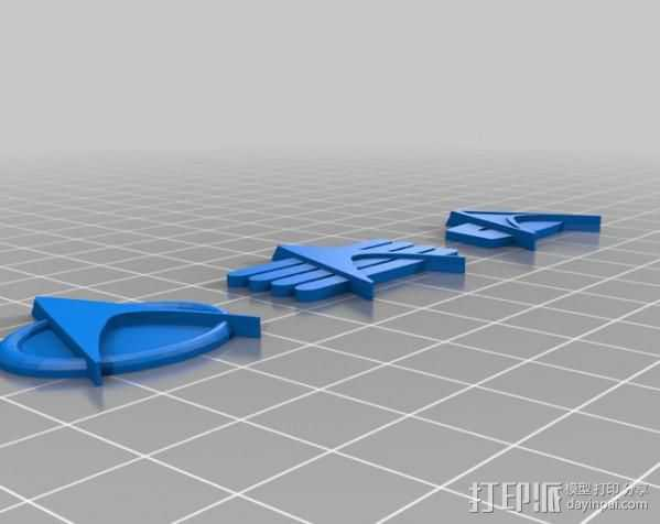 星际迷航通用徽章 3D打印模型渲染图