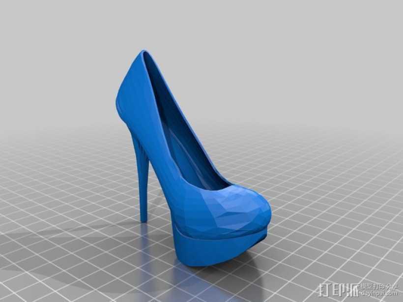高跟鞋 3D打印模型渲染图