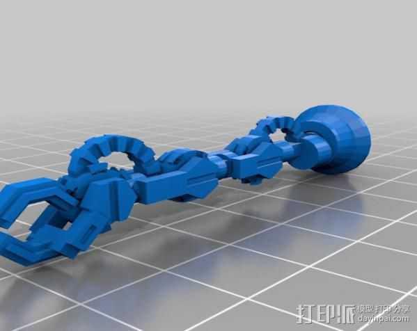机器人手臂 3D打印模型渲染图