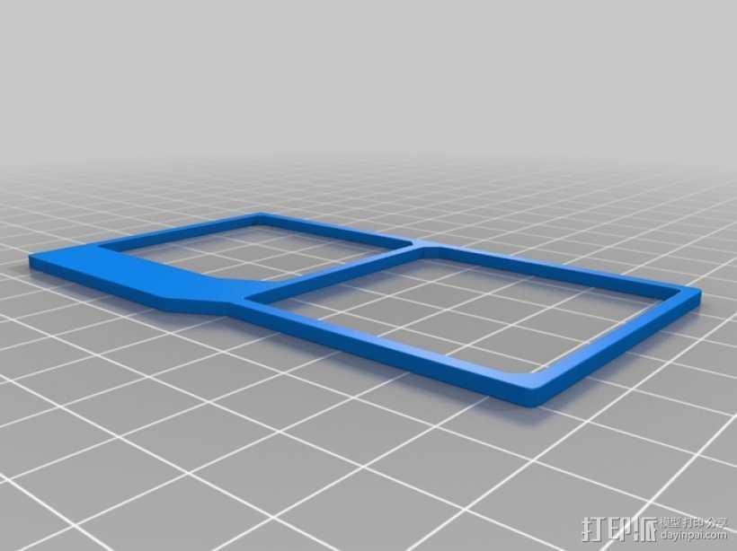 UNSC身份卡 3D打印模型渲染图