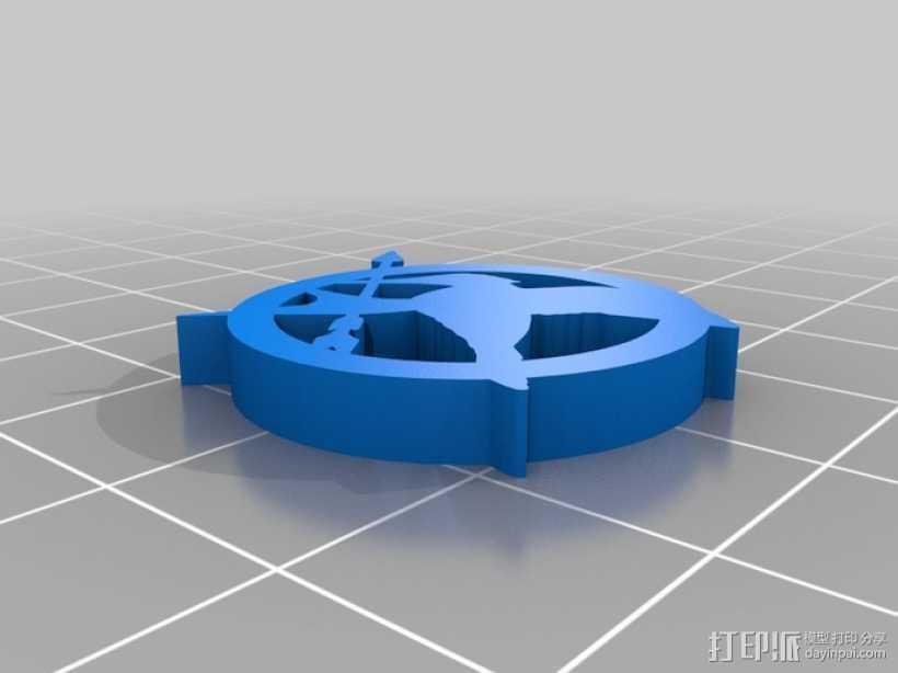 嘲笑鸟标志 3D打印模型渲染图