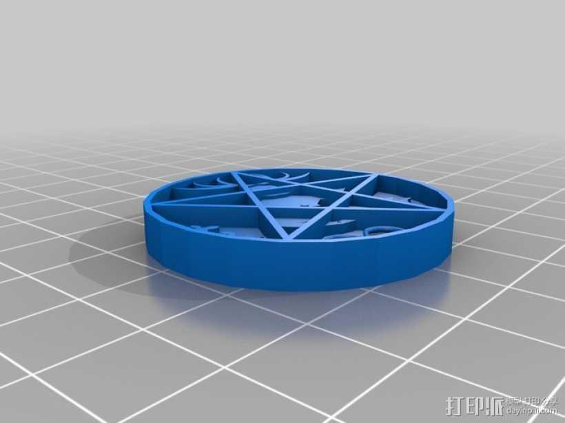 五角星挂件 3D打印模型渲染图