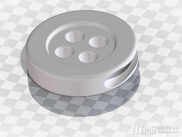 耳机线按钮 3D打印模型渲染图