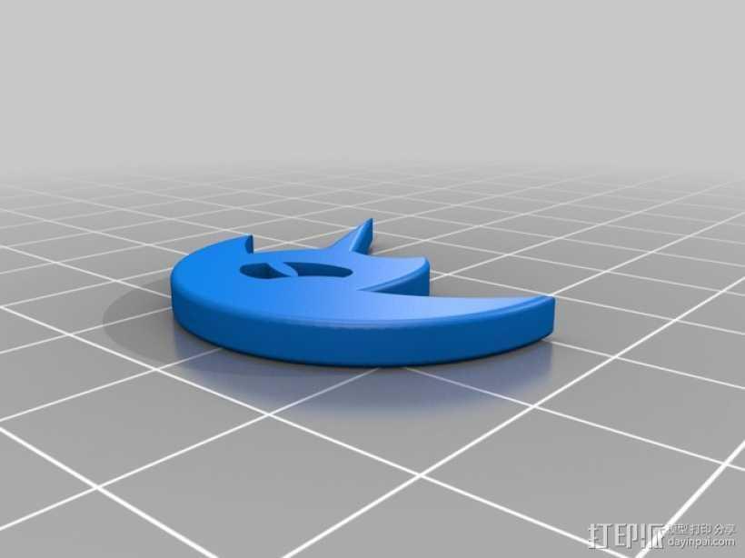 噩梦之月 3D打印模型渲染图