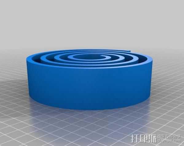 漂亮的尼龙皮带 3D打印模型渲染图