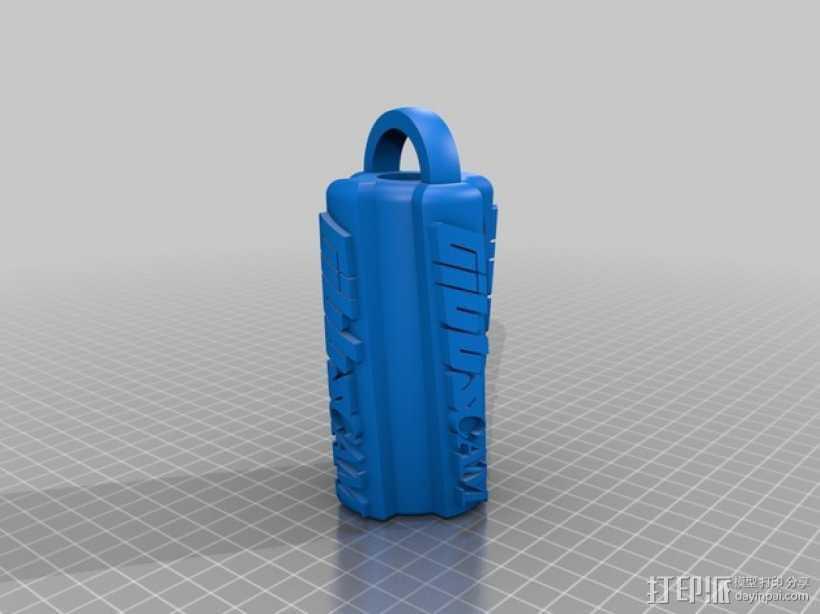 Gibbscam钥匙扣 3D打印模型渲染图