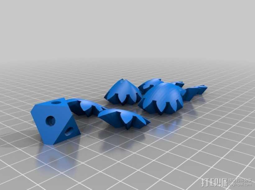 傲娇的齿轮心 3D打印模型渲染图