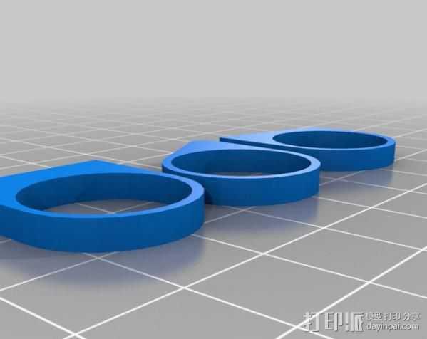 最小的戒指 3D打印模型渲染图